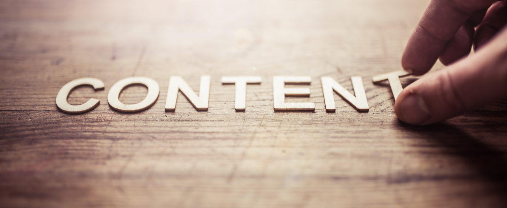 content marketing hero image